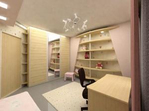 Дизайнерское решение комнаты девочки