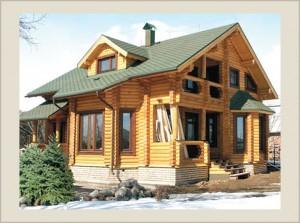 деревянный дом. Сруб