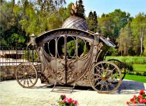 Кованная карета. Ландшафт