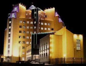 Подсветка зданий светодиодами