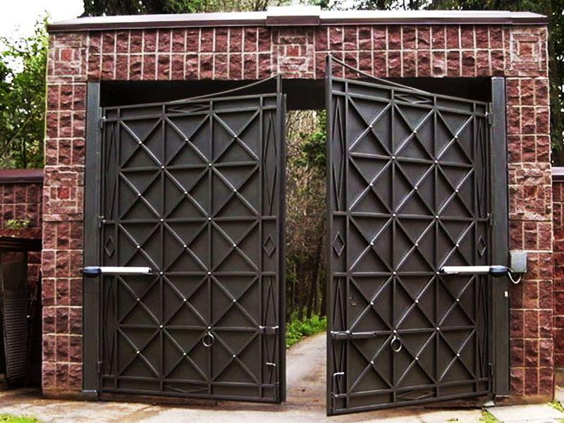 Распашные ворота их дизайн