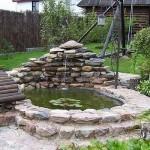 Оформление пруда камнем